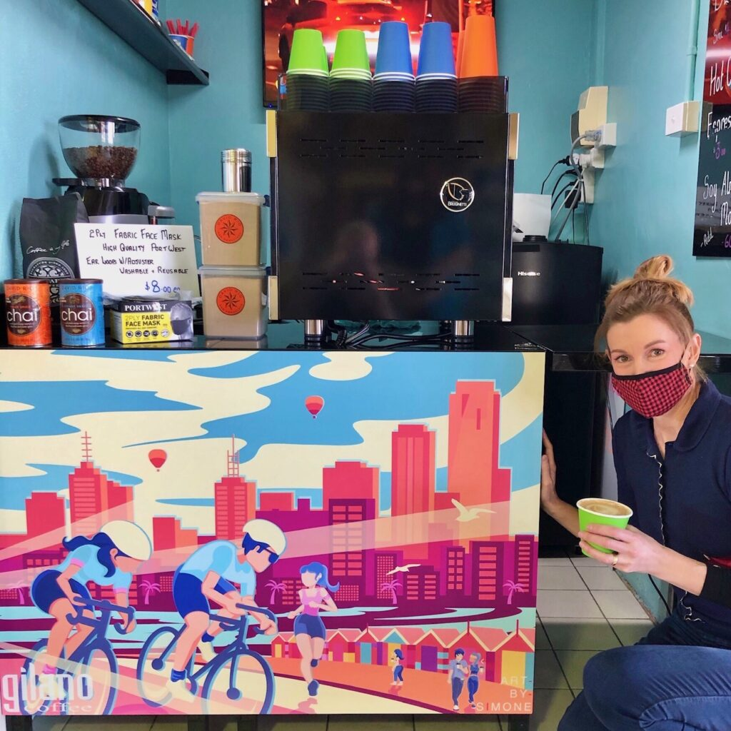 link between coffee and art melbourne - simone wolowiec artist